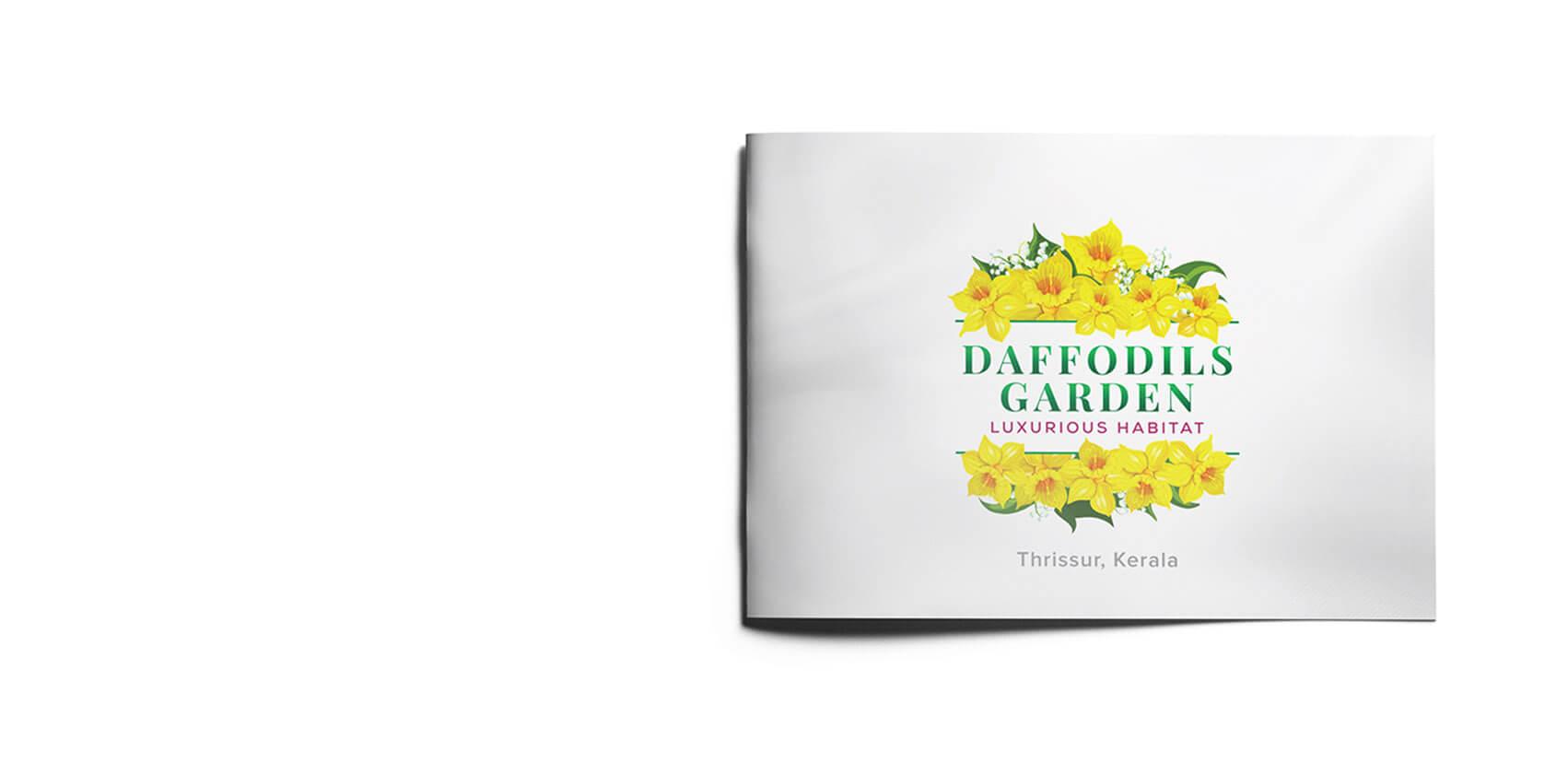 Daffodils Garden Branding Brochure Design Front Cover Vatitude