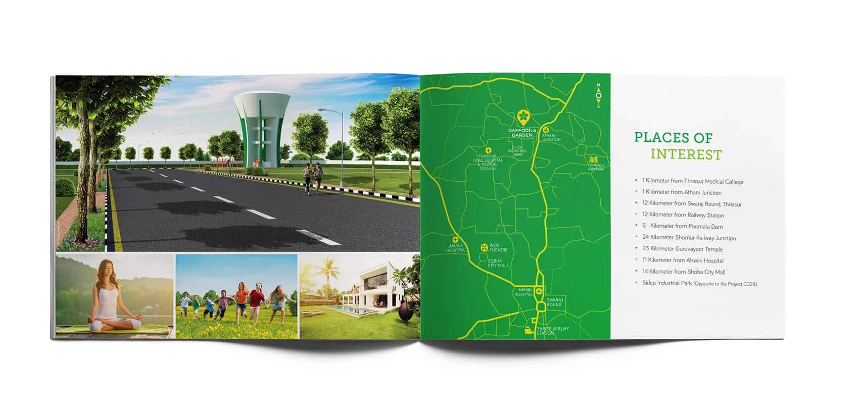 Daffodils Garden Branding Brochure Design map Vatitude