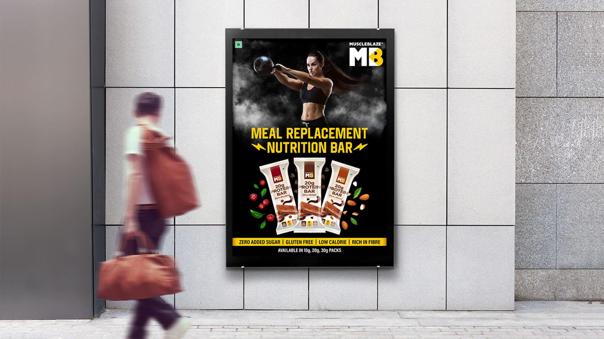 Healthkart MuscleBlaze Print Campaign ad By Vatitude