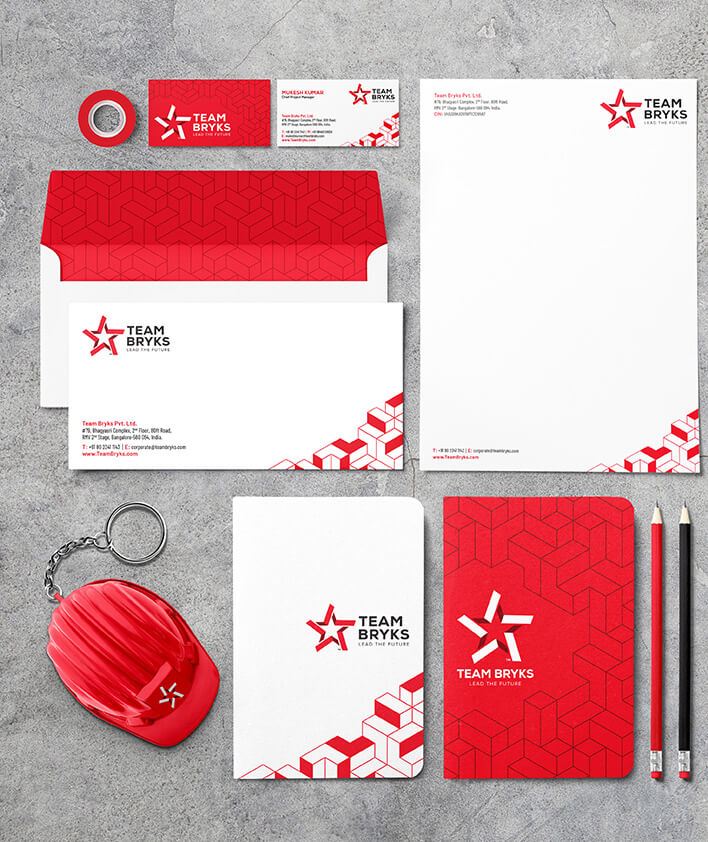 Team Bryks Brand Stationery Collaterals for mobile carousel 1