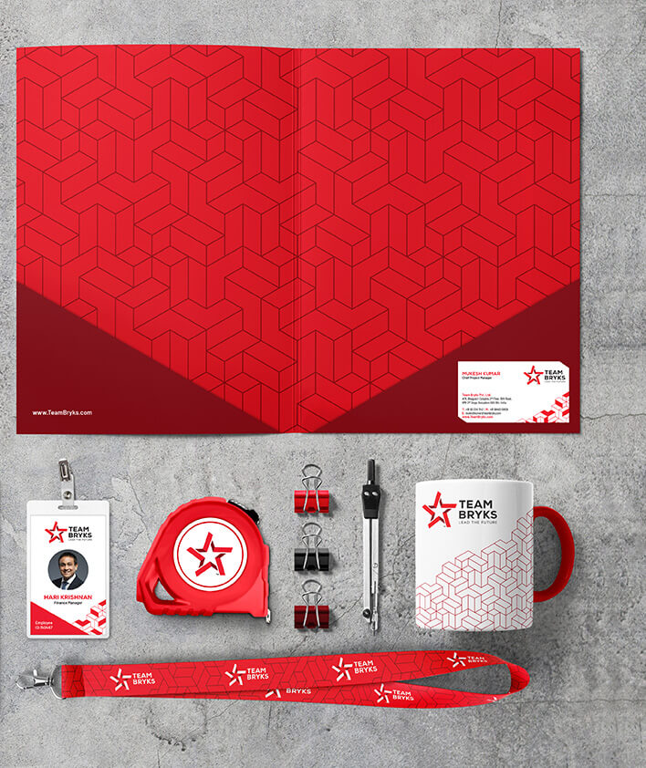 Team Bryks Brand Stationery Collaterals for mobile carousel 2